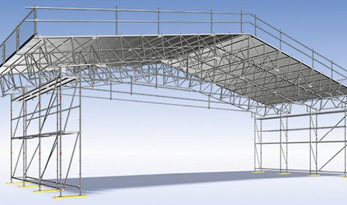 Pastolių nuoma - stogų sistemos